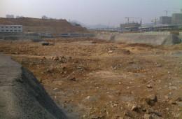 开发区2万方工地开工地槽和顶板做防水找清包工工人