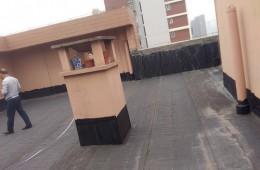 济南天桥区泉星小区6号楼楼顶漏水