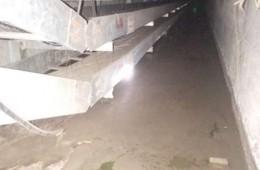 南昌路市政电缆沟渗水补漏