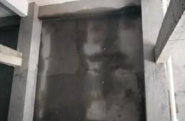 灞桥铁路职业学院新校区连廊顶部渗水