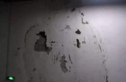 西安市恒通电子4楼车间墙壁漏水严重
