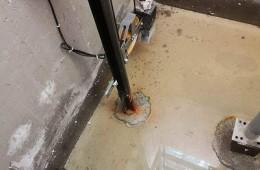 中铁双龙湾4幢 电梯井基坑渗水