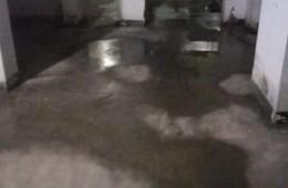 天河区粤电广场 地下车库地面渗水
