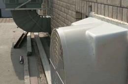 广园实验小学 天台消防风洞雨天漏水到楼下