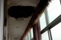 煤市路房管局宿舍 外阳台漏水严重