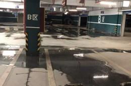格林豪泰酒店地下车库地面渗水