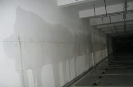 合肥大润发地下停车场 地下室墙壁多处渗水