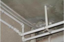 上城区婺江家园 厨房天花板水管周围掉腻子,有水迹
