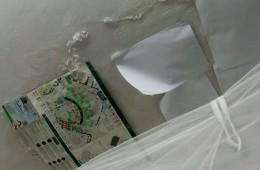 江干区城管中队宿舍 天花板涂料掉皮,墙面发霉