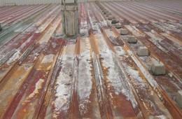 太原市太重煤机 c车间钢构厂房房顶防锈补漏外包