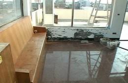 苏州信息职业技术学院 二楼办公室天台做防水