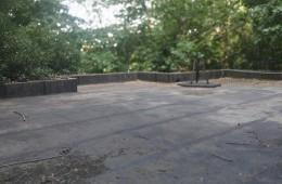 西郊国家森林公园 办公楼二楼屋顶做防水
