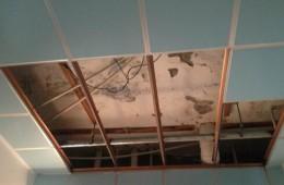 西岗区新河社区公共卫生间天花板漏水