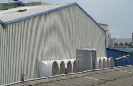 青岛海洋药物研究中心园区钢构屋顶翻修
