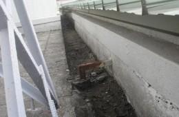李沧区红星工业园屋顶水沟做防水
