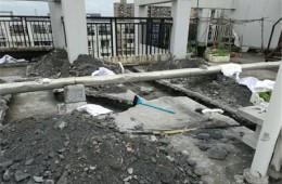 崇川通富家园 反复漏水屋顶重新做防水