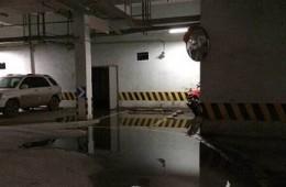 南通市高迪晶城地下停车库漏水