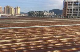 丽都家具建材超市屋顶除锈防腐