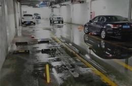唐山市路北区时代广场地下停车场漏水