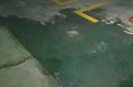 盘龙区欣都龙城地下停车场地面渗水