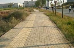 新疆工程学院主校区校园南侧排水系统接入金桥路市政管网防渗施工