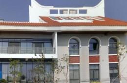 厦门大学翔安校区新能源学院屋顶采光窗,外墙渗水修理