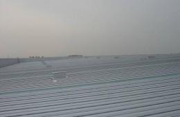 厦门华夏国际电力新仓库屋顶集水槽防腐防水处理