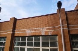 武汉汉阳区楚才小学会议厅楼顶漏水修理