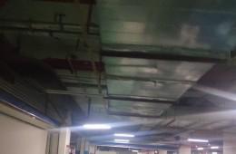 武汉新佳丽时尚广场地下停车场天花板裂缝渗漏修补