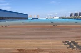 葛店华电工程装备公司厂房除锈,喷漆,亮瓦补漏。
